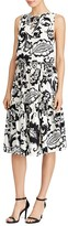 Lauren Ralph Lauren Paisley Print Tiered Dress