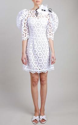 Elie Saab Macrame Mini Dress