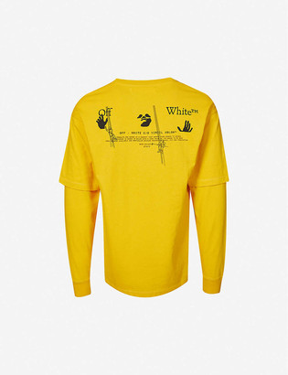 Off-White Workers double sleeve cotton-jersey T-shirt