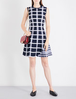 Victoria Beckham Checked fit-and-flare wool-blend dress