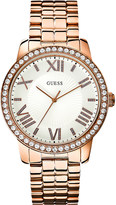 GUESS W0329l3 allure rose gold-plated watch