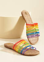 BC Footwear Color Me Casual Sandal in Rainbow in 9.5