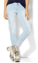 New York & Co. Soho Jeans - Patchwork Ankle SuperStretch Legging - Futurist Blue Wash