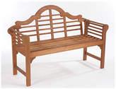 Lutyens Style Hardwood Garden Bench - Natural