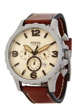 Fossil Men's Silver Chrono Strap Watch