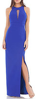 JS Collections Cut Out Halter Gown