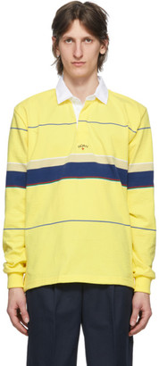 Noah NYC Yellow Stripe Rugby Polo