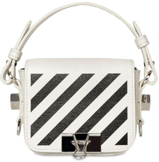Off-White Off White PRINTED STRIPE BABY LEATHER SHOULDER BAG