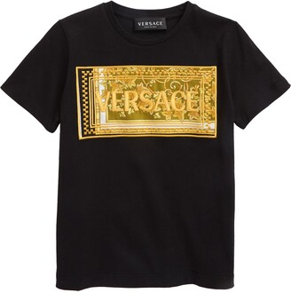 Versace Kids' Embroidered Logo Graphic Tee
