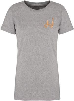 Artisan & Fox Golden Aleppo Embroidery T-Shirt In Organic Cotton