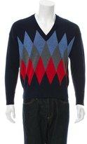 Ami Alexandre Mattiussi Wool Argyle Sweater