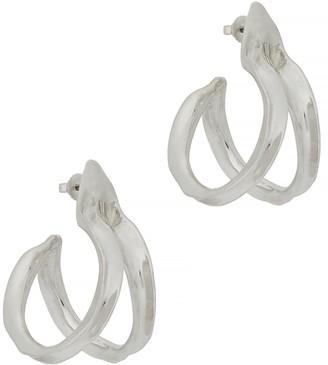 ARIANA BOUSSARD-REIFEL Double Kiki Sterling Silver Hoop Earrings