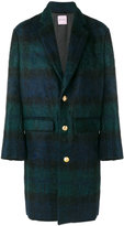 Palm Angels long tartan coat