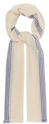 Isabel Marant Vadim Striped Cashmere Scarf - Womens - Cream