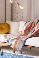 Urban Outfitters Plaid Waffle Knit Throw Blanket