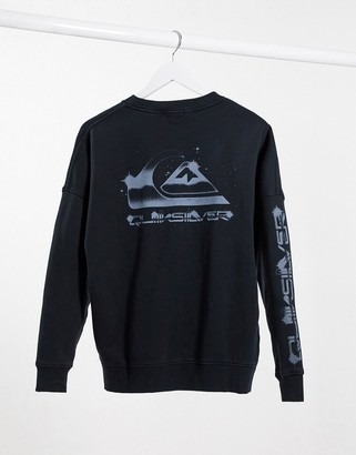 Quiksilver Boxy Logo sweatshirt in black