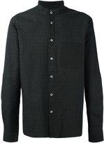 YMC band collar shirt