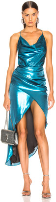 HANEY Holly Dress in Turquoise | FWRD