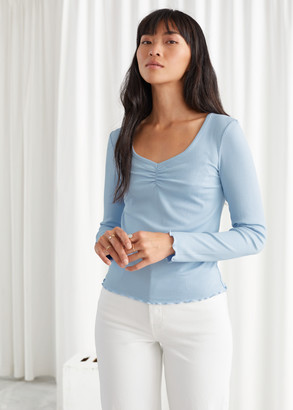 And other stories Soft Fitted Long Sleeve Top