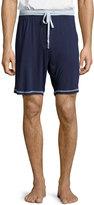 Robert Graham Contrast-Trim Drawstring Shorts, Navy