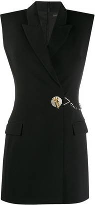 David Koma Button-Embellished Blazer Dress