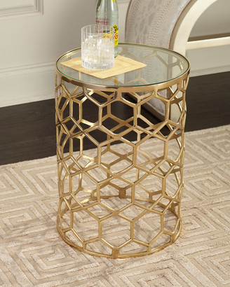 Arteriors Thursby Brass Side Table
