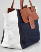 Marc Jacobs Denim-Paneled Tote Bag