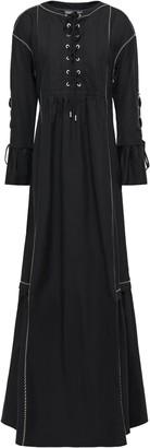 Alberta Ferretti Lace-up Cotton-poplin Maxi Dress