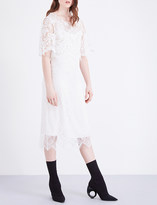 Burberry Flared-sleeve lace dress