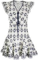 Sandro Paris Elie crochet short dress