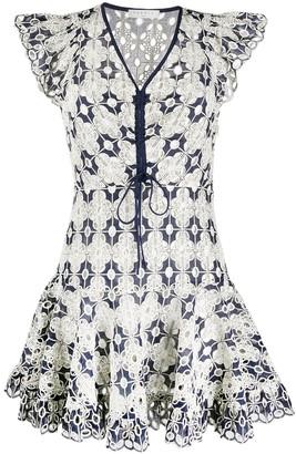 Elie crochet short dress