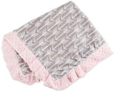 Swankie Blankie Arrow Plush Receiving Blanket, Pink/Slate