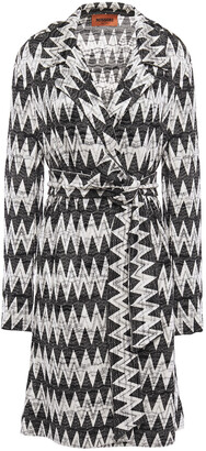 Missoni Belted Crochet-knit Jacket