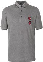Dolce & Gabbana devil designers patch polo shirt - men - Cotton/Polyamide/Polyester/Viscose - 44