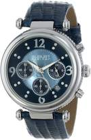August Steiner Women's AS8032BU Crystal Mother-of-Pearl Chronograph Strap Watch
