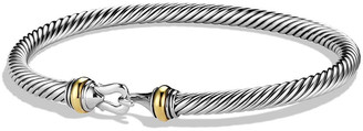 David Yurman 4mm Cable Classic Buckle Bracelet with 18K Gold