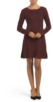 Juniors Long Sleeve Sweater Dress