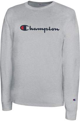 Champion Regular-Fit Long-Sleeve Cotton Tee