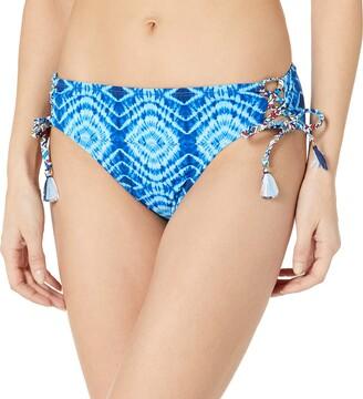 Bleu Rod Beattie Bleu | Rod Beattie Women's Mykonos Multi Print Lace Up Side Hipster Bikini Bottom