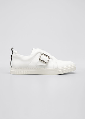 Pierre Hardy Slider Buckle Leather Low-Top Sneakers