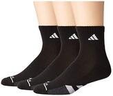 adidas Cushioned II Quarter Socks 3-Pack (Black/White/Black/Onix Marl) Men's Crew Cut Socks Shoes