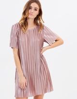 MinkPink Pleated Tee Dress