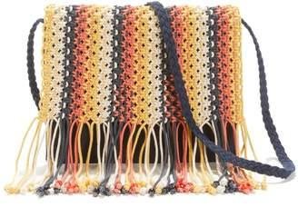La Redoute Collections Macrame Clutch Flap Crossbody Bag