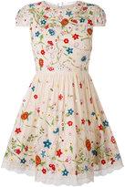 Alice + Olivia Alice+Olivia - floral flared dress - women - Nylon/Polyester/Spandex/Elastane/Viscose - 2