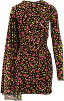Balenciaga Cape Sleeve Mini Dress
