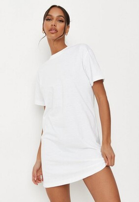 Missguided White Basic T Shirt Dress
