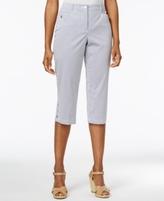 Karen Scott Petite Striped Capri Pants, Created for Macy's
