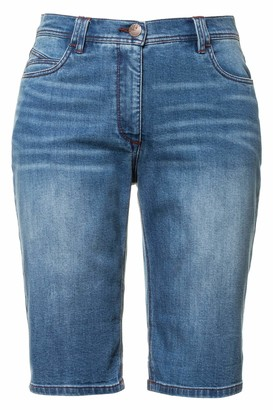 Ulla Popken Women's Jeans Shorts groe Groen