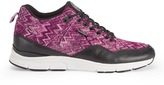 Gourmet Men's 35 TX Trainers Raspberry/Black Leather