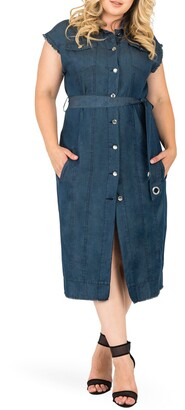 Standards & Practices Aida Denim Shirtdress